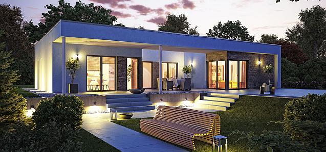OKAL Haus bietet neu gebaute Häuser mit Vorbereitung für Effizienzhaus Plus